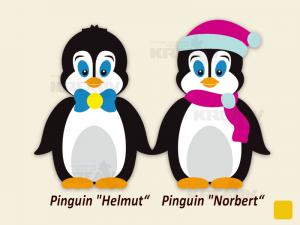 Pinguine Helmut und Norbert