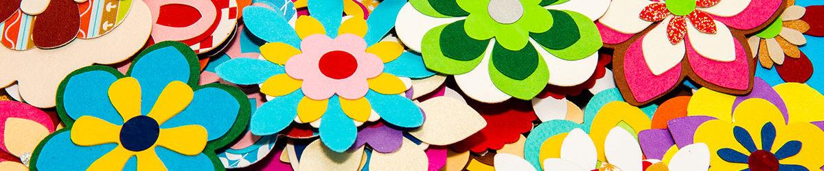 Stanzteile Blüten gemischt